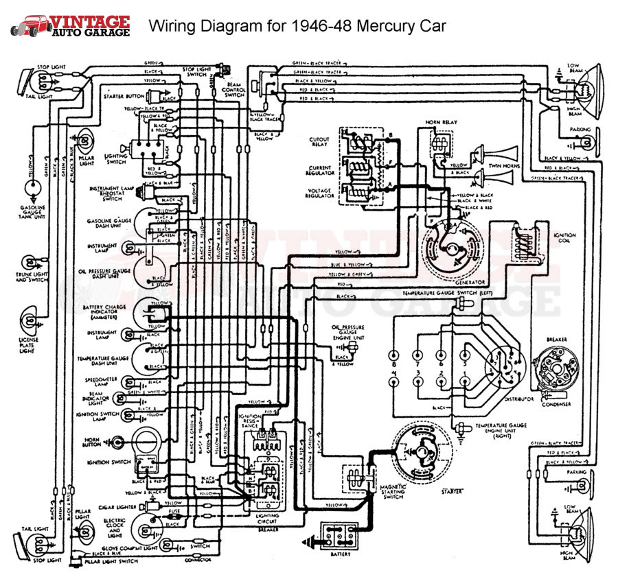 1942 1948 ford mercury car or truck 6v 12v conversion kit wire diagram 1946 1948 mercury